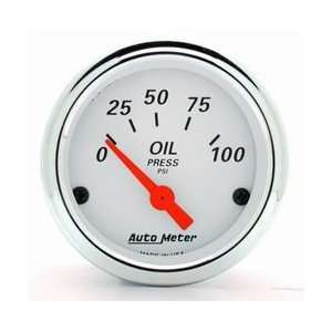 Auto Meter 1327 Arctic White 2 1/16 0 100 PSI Electric Oil Pressure