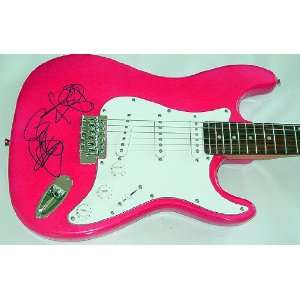 Sia Furler Autographed Signed Pink Guitar & Video Proof