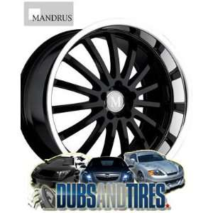 19 Inch 19x9.5 Mandrus wheels Millenium Gloss Black Mirror