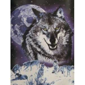 Snow Wolfs Full Moon Winter Soft Throw 50 X 60 Everything