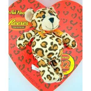 Reeses Peanut Butter Cup Heart Candy Box Chocolate w/ Leopard Stuffed