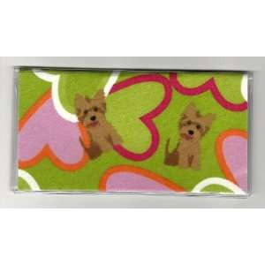 Checkbook Cover Yorkshire Terrier Puppy Dog Heart