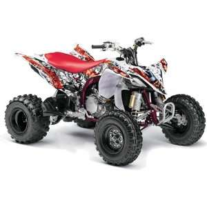 Yamaha YFZ 450 ATV Quad, Graphic Kit   Madhatter White Automotive