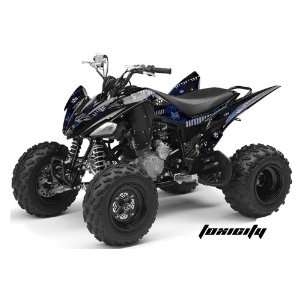 AMR Racing Yamaha Raptor 250 ATV Quad Graphic Kit   Toxicity Blue
