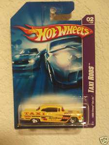 HOT WHEELS 2007 TAXI RODS 1955 CHEVY BEL AIR