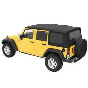 Jeep Wrangler Black Soft Top Sunrider Design, Complete Kit