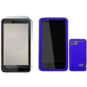 iFase Brand HTC Holiday Combo Solid Dark Blue Silicone