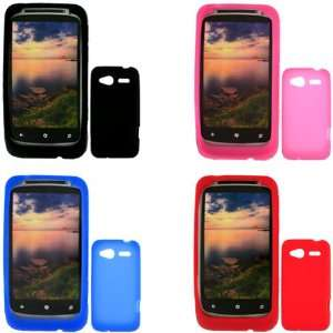 iFase Brand HTC Bresson Combo Solid Black + Solid Blue