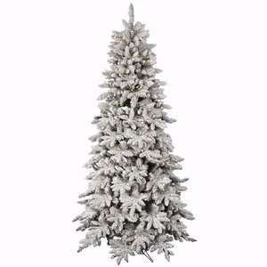 36 Flocked Olympia Fir Christmas Tree w/ 669T & 225 LED