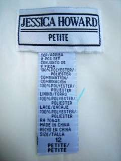 Jessica Howard Petite 2 Pc Cream Crepe Party Dress 12P