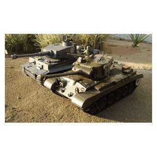 Two (2) Airsoft RC Tanks 1/16 Scale (German Tiger Tank