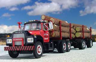 VVR   FG LOGGING R MACK TRUCK & PUP   First Gear