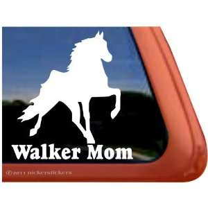 WALKER MOM ~ Tennessee Walking Horse Trailer Vinyl Window