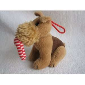 Russ Berrie Scotty Dog Plush Christmas Ornament (3 1/2