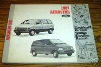 1987 Ford Aerostar Electrical Troubleshooting Manual