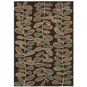 Shaw Angela Adams Fern Dark Brown Runner 2.60 x 7.90 Area