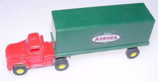 Aurora Vibrator Red Roof Semi Cab Truck Hobby Kits Trailer Slot Car