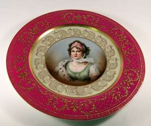 HP Royal Austria Portrait Plate Vienna Prussia Queen
