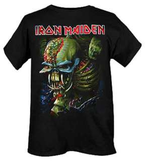 Iron Maiden Alien Eddie Final Frontier Slim Fit Black T Shirt