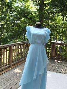 victorian Teatime Pale Blue Long Formal Gown Dress Costume size 9/10