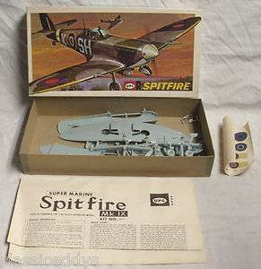 UPC SUPERMARINE SPITFIRE MK IX WWII AIRCRAFT MODEL KIT BOXED UNTOUCHED