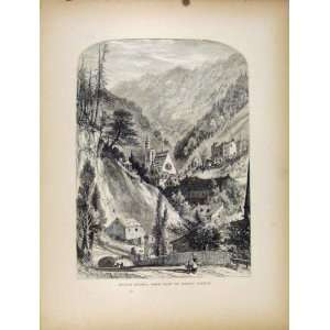 Mauch Chunk Foot Mount Pisgah Antique Print C1872 Art