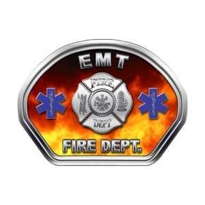 Firefighter Fire Helmet Front Face EMT Real Fire Decal