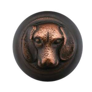 Emtek 86111 Oil Rubbed Bronze   Beagle 1 1/4 Solid Brass Dog Cabinet