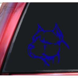 Pit Bull Pitbull Head #2 Vinyl Decal Sticker   Blue Automotive