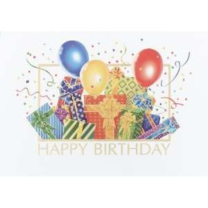 Gifts and Balloons Personalized Business Greeting Cards, Birthday (25)