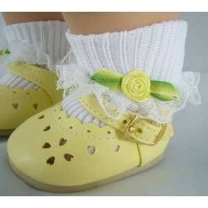 Mary Jane Shoes & Fancy Socks Fits Bitty Baby Dolls