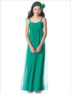 Dessy Collection Junior Bridesmaid .JR 835Shamrock10 JB