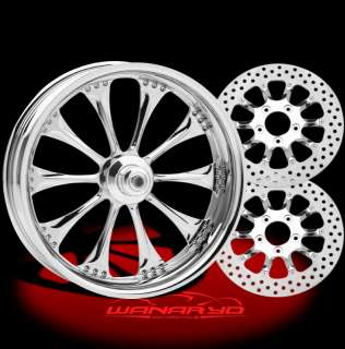 PERFORMANCE MACHINE HOOLIGAN WHEELS, ROTORS, PULLEY TIRES HARLEY DYNA