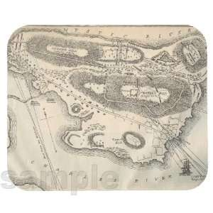 Bunker Hill Military Map Mouse Pad