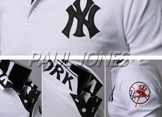 NEW YORK YANKEES Baseball T Shirt NWT Mens Long sleeve Dress Shirt