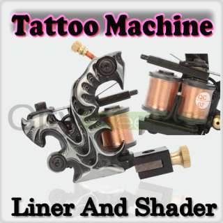 and High quality 10 Wraps Coils Iron Tattoo Machine Liner Gun Handmade