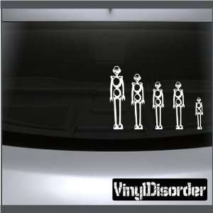 Family Decal Set Robots Stick People Car or Wall Vinyl Decal Stickers