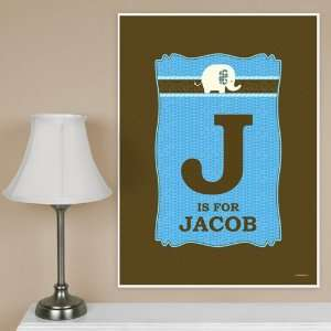Baby Elephant   18 x 24 Baby Room Décor Poster   Personalized Baby