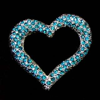 1p Austrian rhinestone crystal heart brooch pin wedding