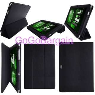 BLACK Flip Leather Case Cover Pouch For Samsung Galaxy Tab 10.1 P7510