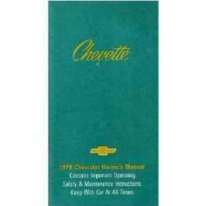 1979 CHEVROLET CHEVETTE Owners Manual User Guide
