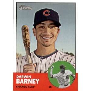 2012 Topps Heritage 15 Darwin Barney   Chicago Cubs (ENCASED MLB