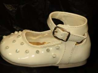Baby Girl Ivory Beige Leather Dress Shoes/Wedding/254/SZ 2 3 4 5 6