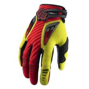 2011 Fox Racing Platinum Race Glove   Red / Yellow   10