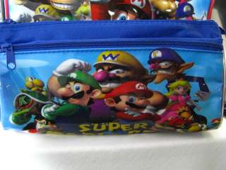 NEW Super Mario Brothers super compose backpack Bag & pencil box Free