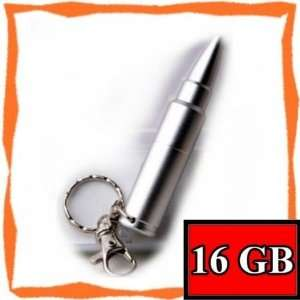 New 16GB Cool Silver Bullet Memory Stick USB Flash Drive