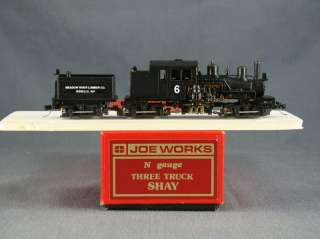 DTD   N SCALE BRASS   JOE WORKS 3 TRUCK SHAY CUSTOM AS MEADOW RIVER