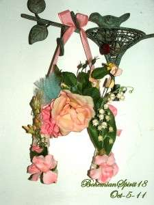 Artisan Original GOOD LUCK Real HORSE SHOE Floral Victorian Style Wall