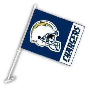 San Diego Chargers Helmet Car/Truck Window Flag Sports