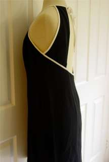 LAUNDRY SHELLI SEGAL Black Backless Cocktail Dress Black White 10